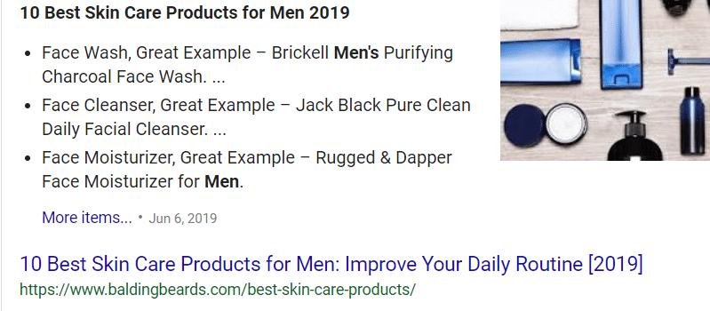 Top Men's Skin Care 2019