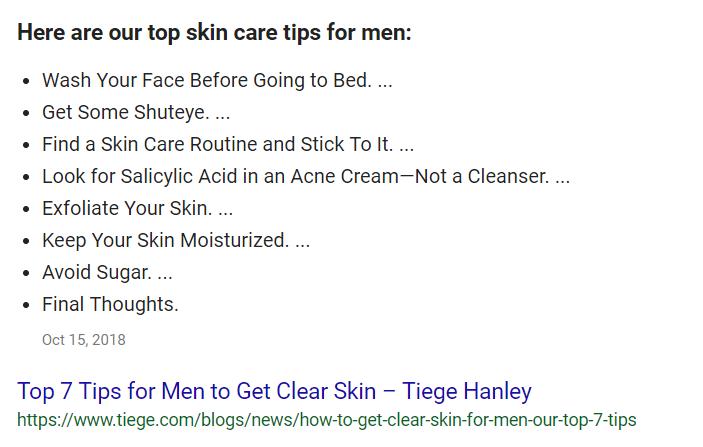 Best Men's Skin Care Tips